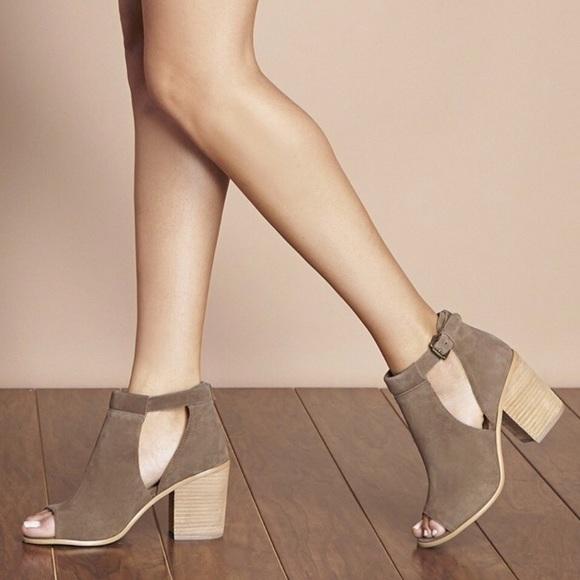 3d22bb1443a Sole Society FERRIS Block Heel Sandal Booties